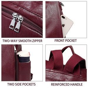 Image 5 - Vaschy moda vegan couro anti roubo mochila feminina tecer vintage único macio saco de escola para adolescente menina designer bolsa