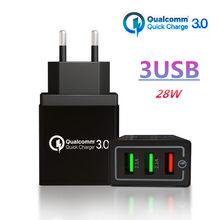 18 W Carregador USB Carga Rápida 3.0 V 3A 5 EUA Plug UE para o iphone X 8 7 3 Portas rápido Carregador de Parede para Samsung s8 s9 s10 Huawei P20 30