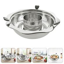 Hot-Pot Stainless-Steel for Restaurant-Shop Home Rotatory Practical 1-Pc Durable