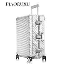 Алюминиевый Чемодан на колесиках, чемодан для путешествий, 20 чемоданов для переноски, 26, 30 проверенных багажа