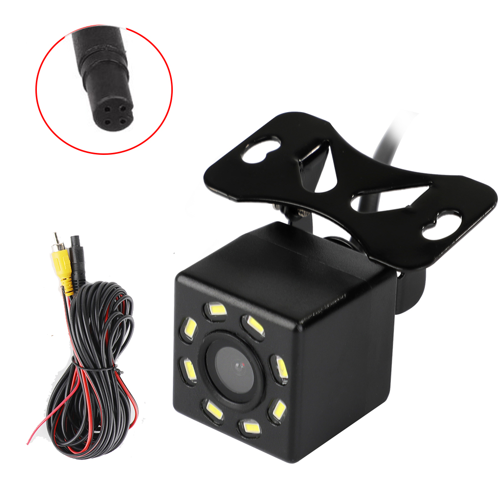car Rear View Camera Universal 12 LED Night Vision Backup Parking Reverse Camera Waterproof 170 Wide Angle HD Color Image 6