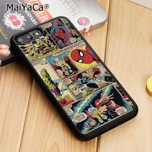 MaiYaCa Marvel Comic Strip Spiderman Thor Phone Case For iPhone 5 6 6s 7 8 plus 11 pro X XR XS max Samsung S6 S7 edge S8 S9 S10(China)
