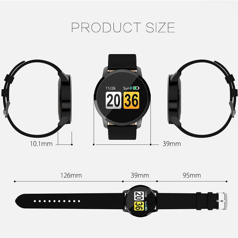 Умные часы OLED цветной экран мужские модные фитнес-трекер монитор сердечного ритма кровяное давление кислородные Мужские Женские умные часы