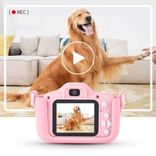 Kids Digital Camera HD 1080P Video Dual Camera 2.0 Inch IPS Screen Mini Camera Educational Toys For Children Christmas Gift