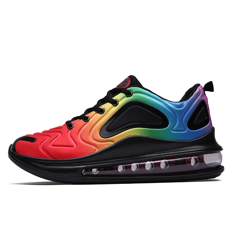 New Autumn Rainbow Men Running Sneakers Air Cushion Athletic Shoe Trainers Couples Colorful Men Sport Shoes Zapatillas Deportiva