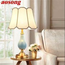 Aosong Керамические настольные лампы из латуни современный роскошный