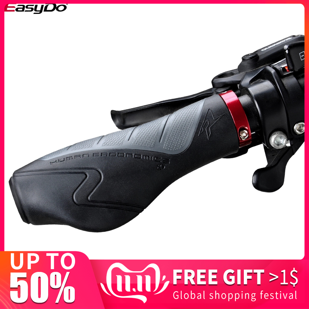 EasyDo Fashion Good Air Permeability MTB Handlebar Grips Ergonomic Design Antiskid Bicycle Grips Accessories