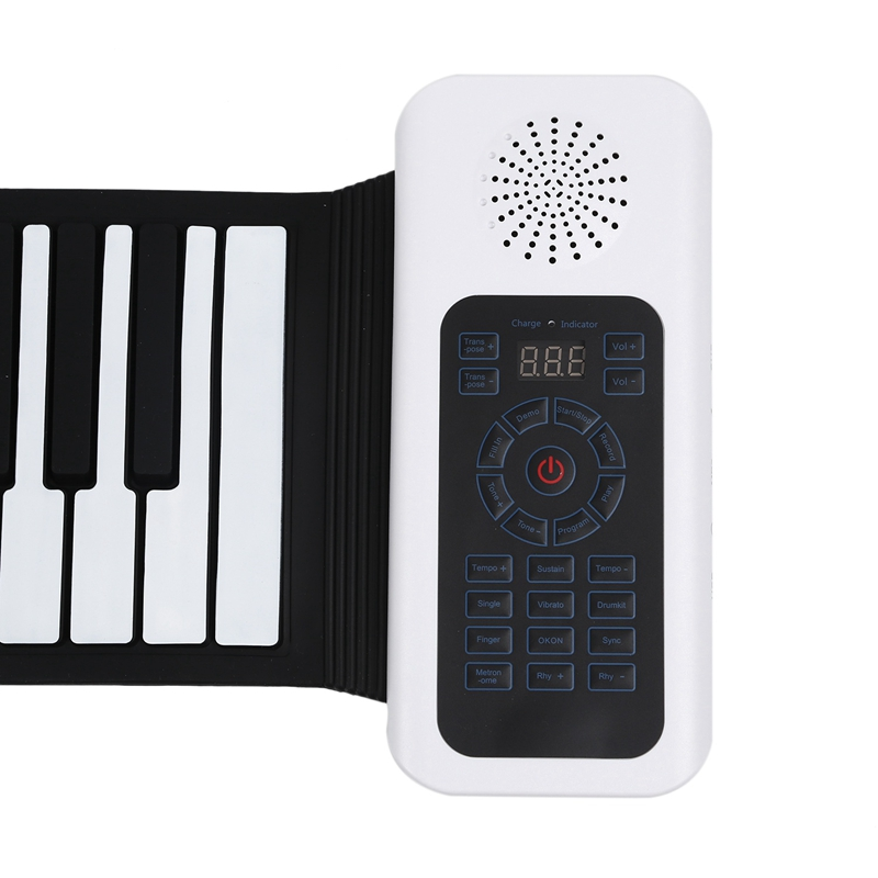 Обновленная 88 клавиш универсальная гибкая сворачивающаяся мягкая электронная клавиатура пианино для гитарных проигрывателей - 6
