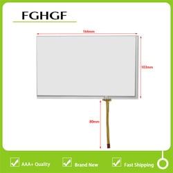 Novo 165*104 164*103 painel da tela de toque digitador vidro sensor substituição para gps do carro at070tn83 a070vw05