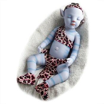 RSG تولد من جديد دمية طفل 21 بوصة نابض بالحياة الوليد الحلو الأزرق بيبي بوي ليلة ضوء كامل سيليكون دمية الفينيل لعبة هدية للأطفال