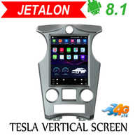 Tesla Vertical screen android 8.1 car gps multimedia radio player in dash for Kia Carens car navigation 4G LTE stereo 2007-2012