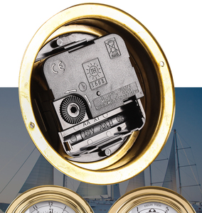 "Image 5 - Nieuwe 1 Pcs 3 ""Messing Case Traditionele Weerstation Analoge Tij Klok Gold Metal (Witte Wijzerplaat) Tc8151"