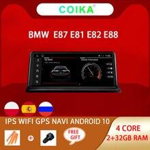 안드로이드 10.0 시스템 자동차 GPS 네비게이션 스테레오 BMW E81 E82 E87 E88 2005 2012 WIFI 구글 SWC BT 음악 2 + 32G RAM IPS 터치 스크린