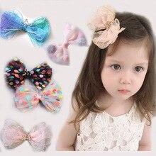 Hairpin Hair-Accessories Girl's Sweet Korean Princess Children's Crown Bow-Net Boyle