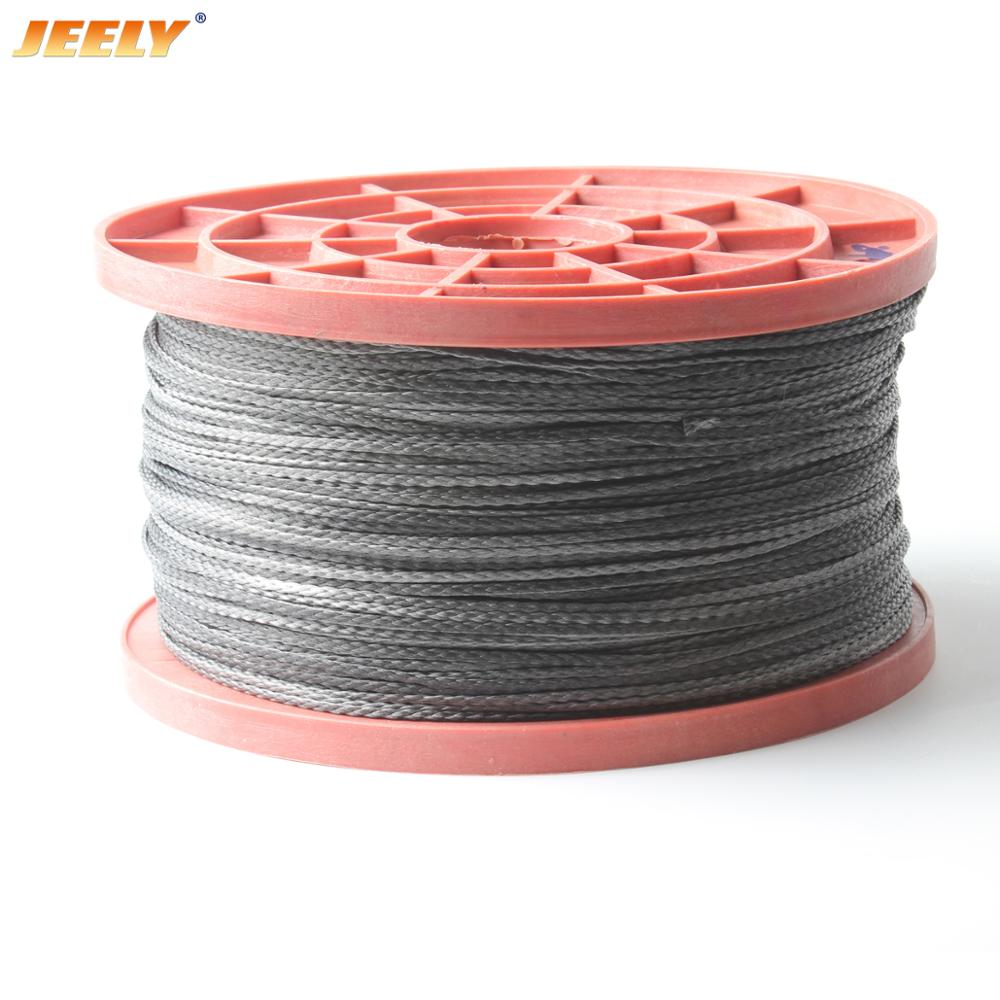 JEELY 50M 1.2mm 352lbs 4 Strand Braided Fishing Rope UHMWPE