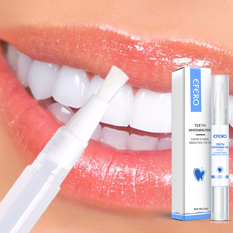 EFERO Teeth Whitening Gel Oral Hygiene Care Tooth Bleach Cleaning Dental White Tooth Whitening Pen Teeth Plaque Stains Cleaning