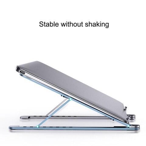 suporte de aluminio prata da tabuleta