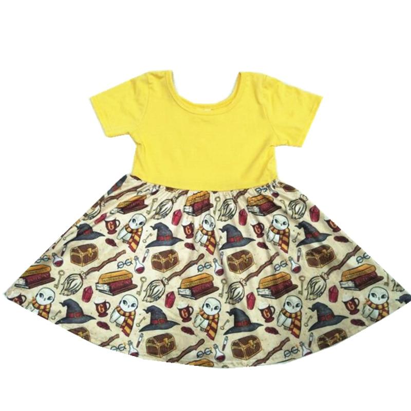 2019 Verão Nova Vestido de Bebê Para Meninas Moda Infantil Vestidos Roupa Dos Miúdos Roupa das Crianças Vestido de Princesa do Dia Das Bruxas
