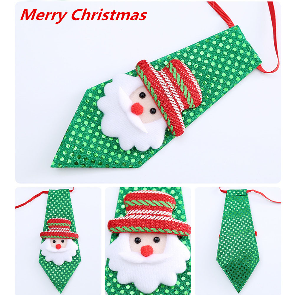 2019 New Year Christmas Ties Adjustable Children Toy Grooming Bow Tie Necktie Clothes Party Neck Ties For Men Women Kids #01