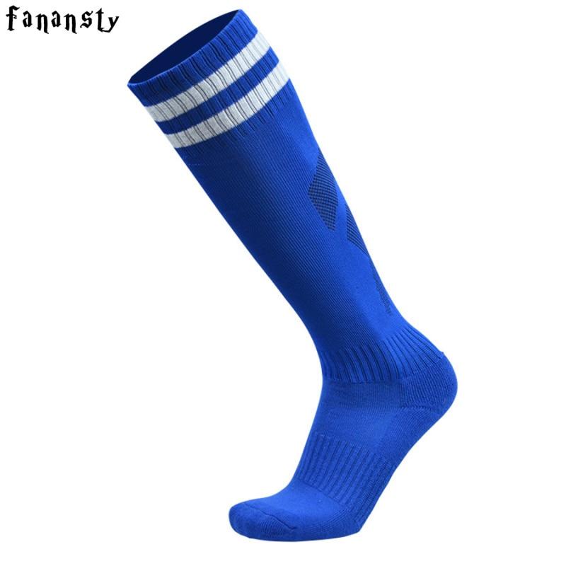 Высококачественные футбольные носки для мужчин, футбольные носки по колено, мужские футбольные Нескользящие дышащие спортивные носки