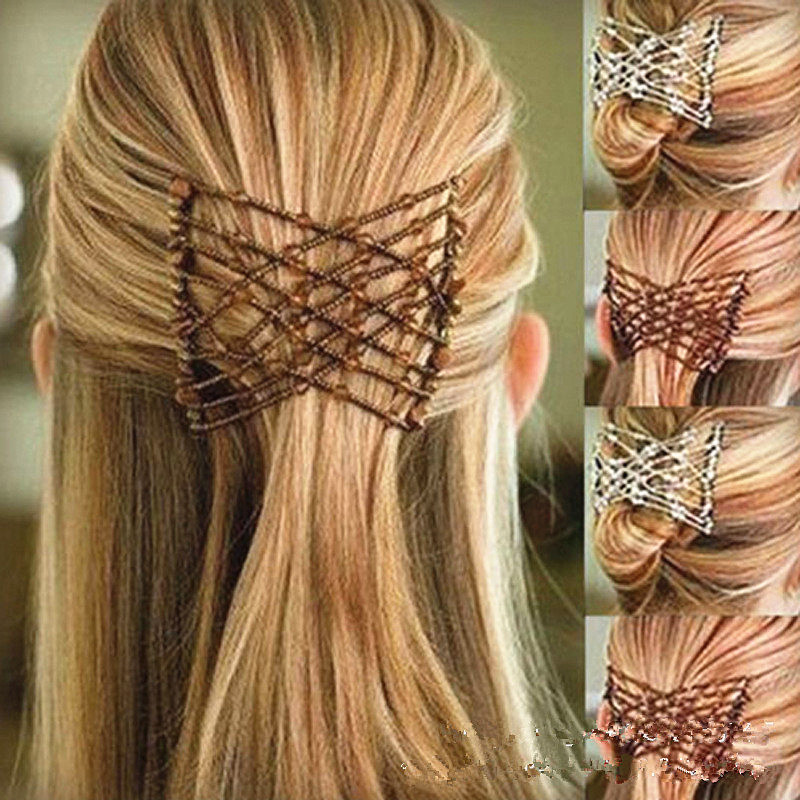 1PC Fashion Flexible Butterfly Hair Clip Elastic Hair Comb Women Hair Styling Tools Comb Professional Hair Brush Hair Decoration