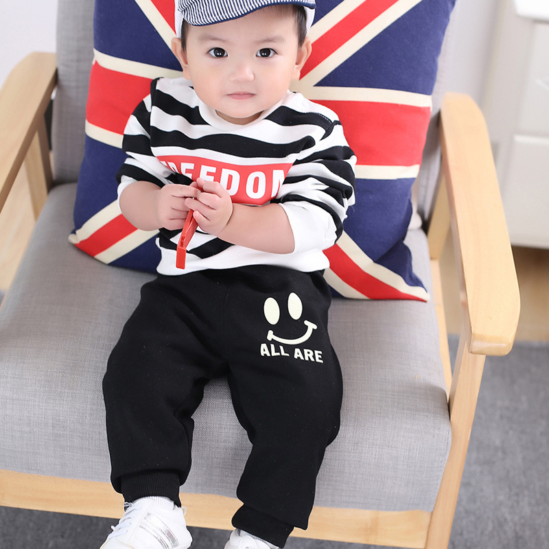 Boys girls plus sweat pants han edition baby pants brim child qiu dong outfit casual pants in Pants from Mother Kids