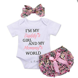 Newborn baby girl clothes carters baby girl clothing sets 2019 summer floral baby girl romper with lace skirt bebes headbands