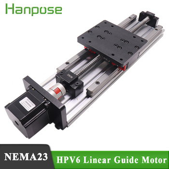 HPV6 Linear module ballscrew sfu1204 with Linear Guides HGH15 HIWIN 100% same size with NEMA23 2.8A 56mm stepper motor screw with linear guide hgr15 hpv6 linear module nema23 2 8a 56mm stepper motor same