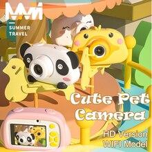 Panda śliczny aparat cyfrowy 4K aparat dziecięcy duży ekran kamery WIFI zabawki dla dzieci prezent 24MP zabawka edukacyjna dla dzieci aparat fotograficzny
