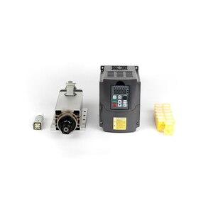 Image 2 - Broche de refroidissement à Air carré, CNC V 220V 2200W, ER20, W, fraise à Air refroidi + onduleur VFD kw + 13 pièces/ensemble ER20