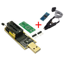 Ch341a 24 25 séries eeprom flash bios usb programador módulo + soic8 sop8 clipe de teste para eeprom 93cxx/25cxx/24cxx