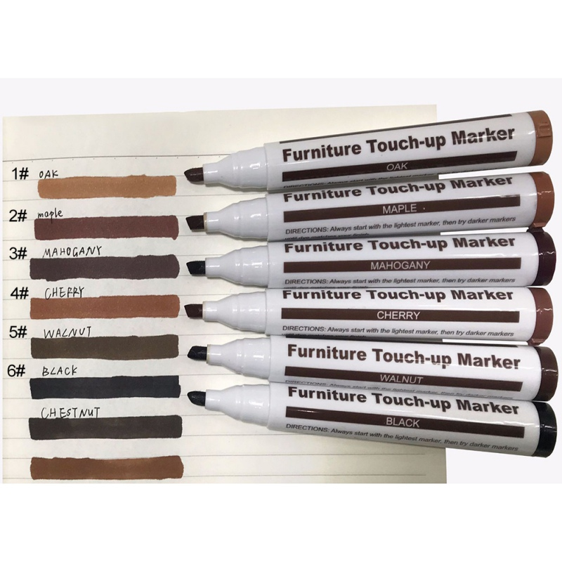 Wood Furniture Repair Pen Set Markers Scratch Filler Paint Remover For Wooden Cabinet Floor Tables Chairs Repair Kit #L