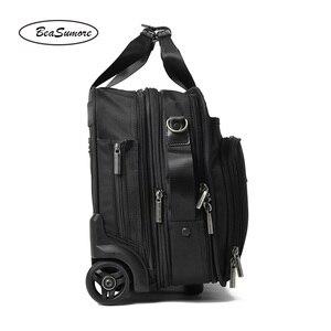 Image 5 - BeaSumore roulettes valise pour hommes, multifonctions, 16 pouces, pour bagages, pilote dentreprise pochette dordinateur