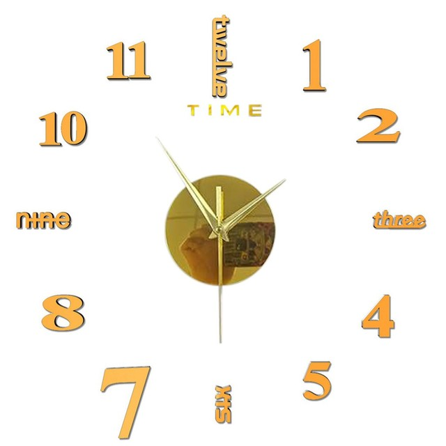 Top Selling Product Frameless Diy Wall Mute Clock 3d Mirror Surface Sticker Home Office Decor Support Wholesale Dropshipping 2