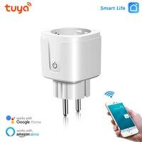16A EU Smart Plug WiFi Socket Energy Monitor funzione di temporizzazione Tuya SmartLife APP Control compatibile con Alexa Google aiutan