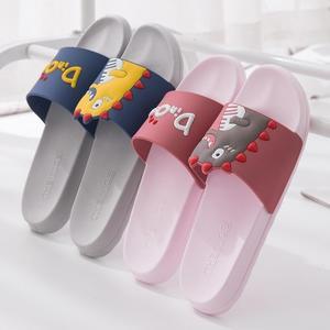 Image 3 - Mum Zapatillas de Interior de PVC suave para niños, zapatilla para baño antideslizante, estilo de dibujos animados, para el hogar, 2020