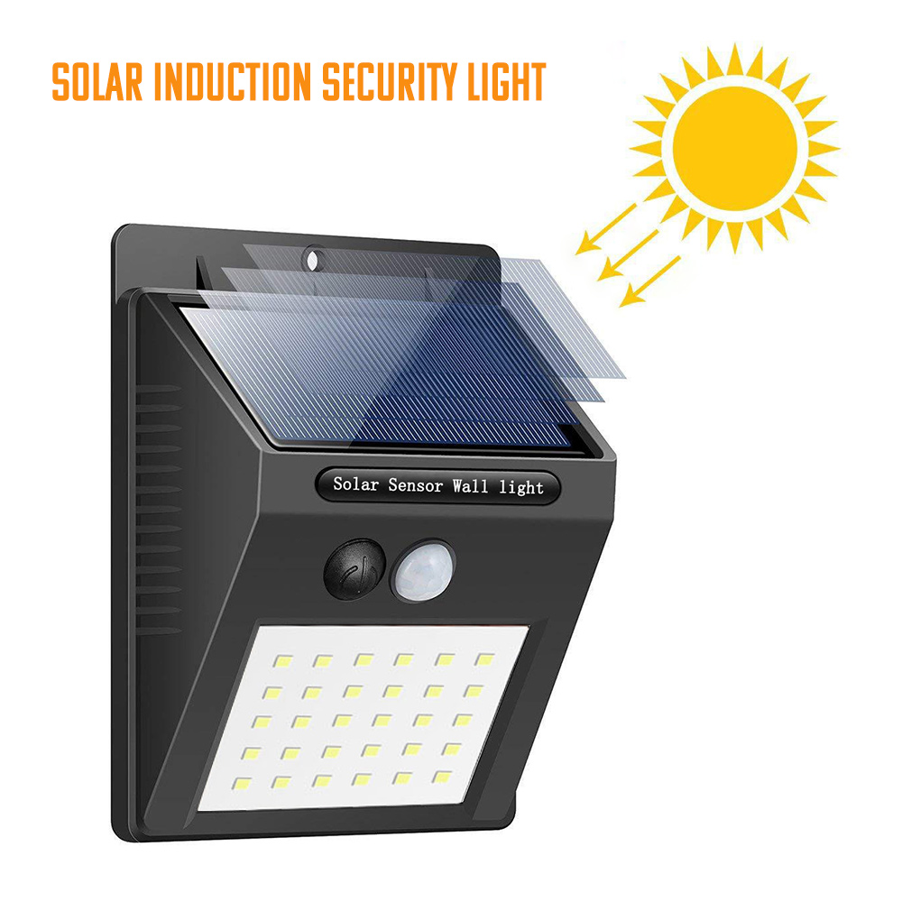 SUNYIMA 30 LED Outdoor Solar Wall Lamp Waterproof PIR Motion Sensor Garden Light Solar Powered Spotlight Sunlight Street Light