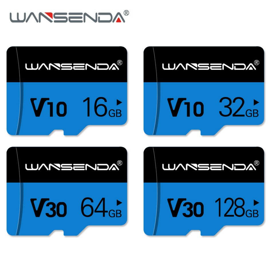 High Quality WANSENDA Memory Card Class 10 Micro SD Card 8GB 16GB 32GB 64GB 128GB Micro Mini TF Card With Retail Package
