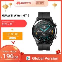 В наличии глобальная версия HUAWEI Watch GT 2 GT2 gps 14 дней работы водонепроницаемый телефон смарт-звонки трекер сердечного ритма для Android iOS