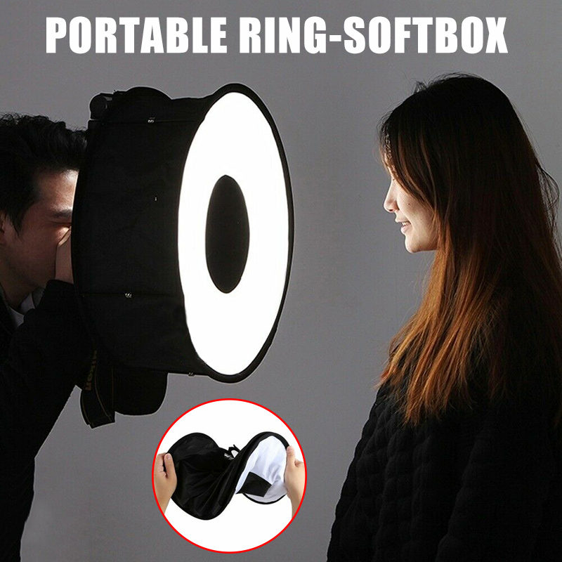 Portable Camera Round Softbox Reflector Foldable For Portrait Product Photography Suit For Most Cameras  VH99