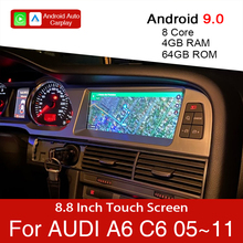 Android 9.0 4 + 64Gb Auto Multimedia Speler Voor Audi A6 C6 4f 2005 ~ 2011 Auto Gps Navigatie touch Monitor Voor Carplay Android Auto