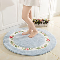 Pastoral Round Floor Mat Carpet For Living Room Balcony Bathroom Anti slip Water Absorption Rug Chair Mat Area Rug Home Decor