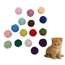 2PCS Pet Fun Bell Pet Yarn Ball Kitten Cat Wool Ball Product Zero Exercise Game Chew Toy Cat Ball Toy with bell Funny Chew magideal horse toy game ball with apple scent pet joy fun horse stable and yard toy