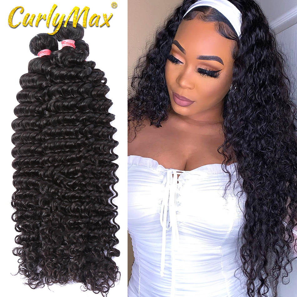 <font><b>Luvin</b></font> <font><b>Hair</b></font> Brazilian Deep Wave Weave Human <font><b>Hair</b></font> Bundles <font><b>Hair</b></font> Deep Wave 8-30 Brazilian Human <font><b>Hair</b></font> Weaves Bundles deep wave bundle image