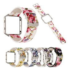 New cross-border for Fitbit blaze Garden Wind Broken Flower Leather Strap Blaze Printed