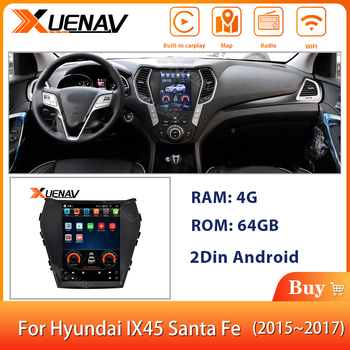 2Din Android System Car Navigation Stereo Autoradio For-Hyundai IX45 Santa Fe 2015 -2017 Car GPS Navigator Multimedia DVD Player image