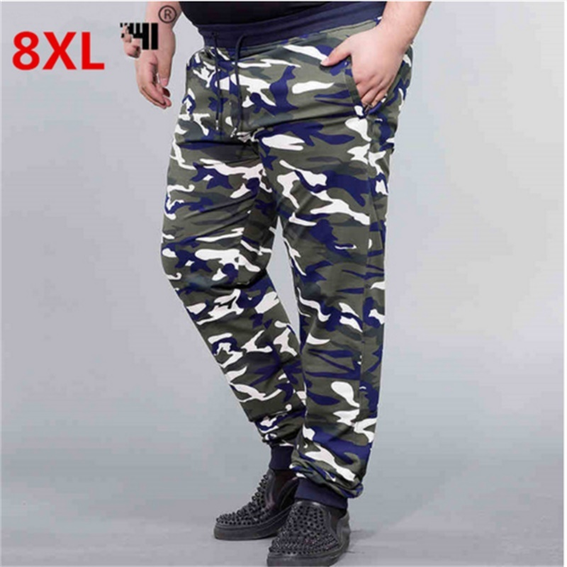 10XL 8XL 6XL 5X  High Quality Sweatpants Men's Gasp Workout Bodybuilding Clothing Casual Camouflage Sweatpants Joggers Pants