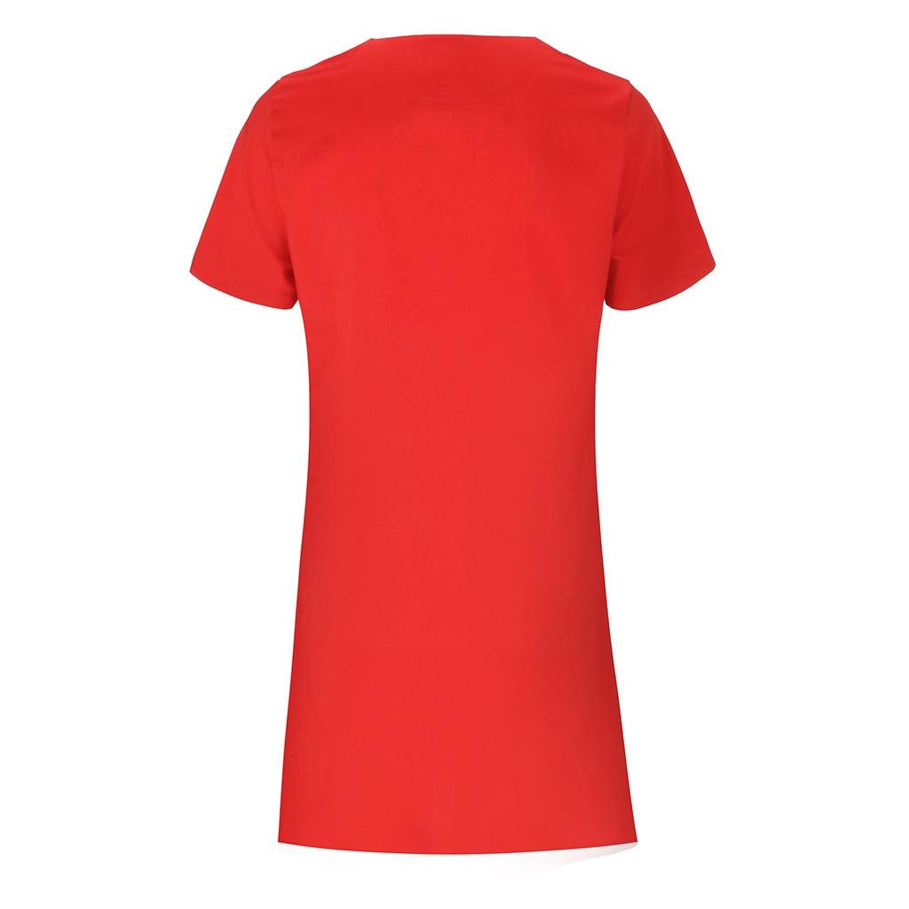 H487b05005f1d452ebadc00eaa112fb7ek Summer Women's Clothing Ladies' Short Sleeve V-Neck Zipper Solid Color Dress Casual Comfortable Tops Dress For Home Dress #BL0