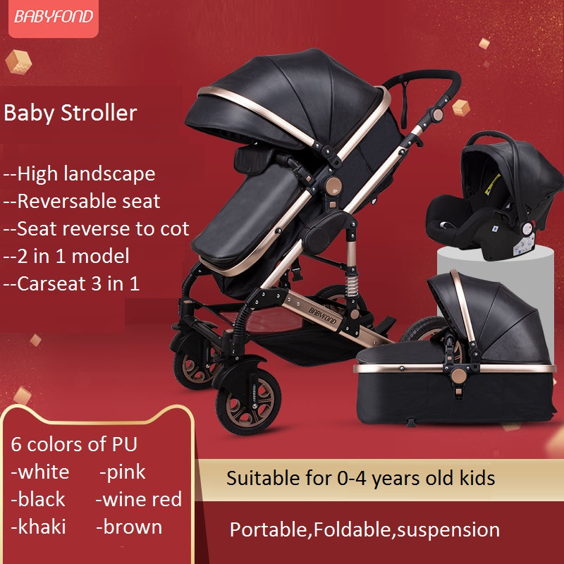 <font><b>3</b></font> <font><b>in</b></font> <font><b>1</b></font> travel system <font><b>baby</b></font> stroller,highlandscape foldable four wheels stroller,infant bassinet,basket carseat <font><b>pram</b></font>,<font><b>baby</b></font> carriage image