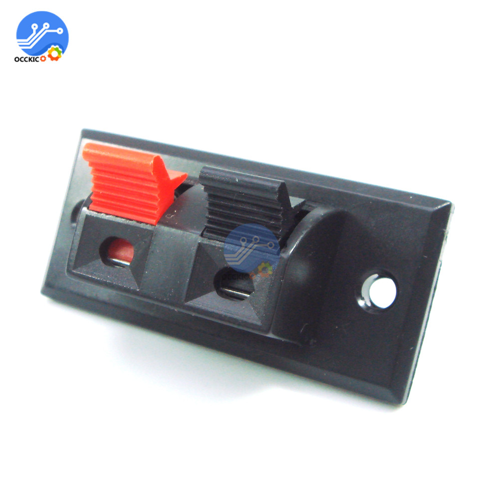 5Pcs Spring Clip Speaker Terminal 2 Way Ports Binding Post Connector Socket Jack Audio Speaker Terminals